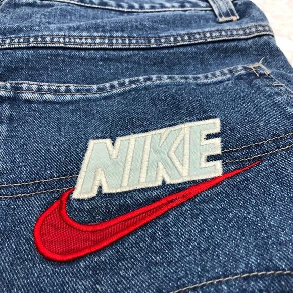 8s 90s Nike Block Swoosh Jeans Mens 34